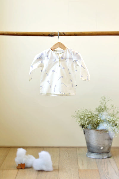 'Over the Moon' with Sleeves - Lavender Floral Unisex Kurta (0-6 months)