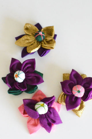 Purple Flower Hair Clip Assorted