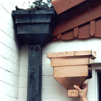 Copper Leader Head | Scupper Box | Decorative Downspout | Wholesale Gutter Systems