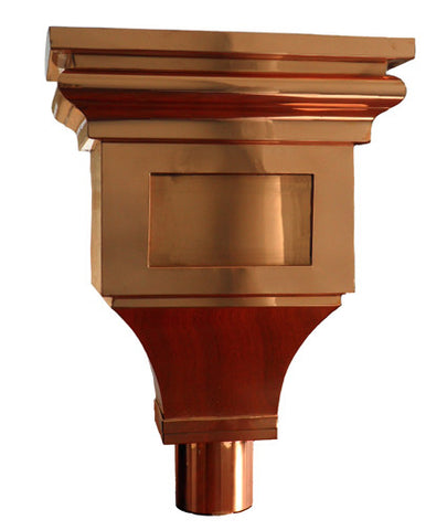 COPPER LEADER HEAD- CHAGALL - Wholesale Gutter Systems