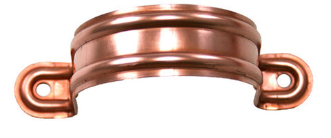 COPPER DOWNSPOUT BRACKET- STAMPED STRAP - Wholesale Gutter Systems  - 1