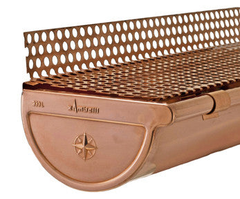 "COPPER LEAF GUARD- 5"", 6"", & 7.6"" - Wholesale Gutter Systems  - 1"