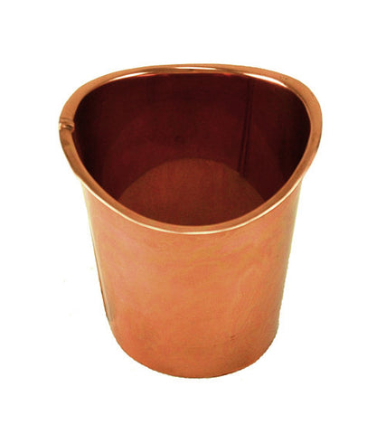 "COPPER OUTLET- PLAIN DROP 2 1/4"", 3"", 4"", & 5"" - Wholesale Gutter Systems  - 1"