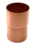 "COPPER CONNECTOR FOR ROUND DOWNSPOUT- 2.25"", 3"", 4"", & 5"" - Wholesale Gutter Systems  - 1"