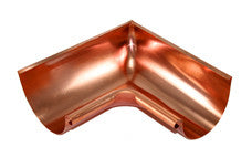 "COPPER INSIDE MITER- 4"", 5"", 6"", & 7.6"" 90 DEGREE - Wholesale Gutter Systems  - 1"