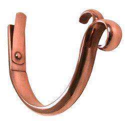 "COPPER COATED CAST BRASS DOUBLE CURL FASCIA HANGER- 6"" - Wholesale Gutter Systems  - 1"