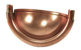 COPPER SPHERICAL END CAP WITH TABS - Wholesale Gutter Systems  - 1