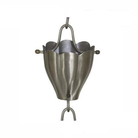STAINLESS STEEL RAIN CHAIN- FLUTED CUP - Wholesale Gutter Systems  - 1
