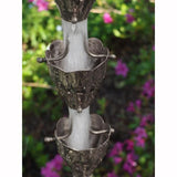 STAINLESS STEEL RAIN CHAIN- FLUTED CUP - Wholesale Gutter Systems  - 3