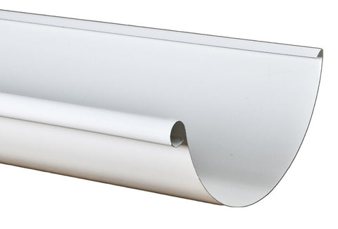 "STEEL HALF ROUND GUTTER- PREMIER 7.6"" (10' & 18' lengths) - Wholesale Gutter Systems  - 1"