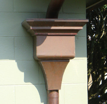 COPPER LEADER HEAD- LEONARDO - Wholesale Gutter Systems