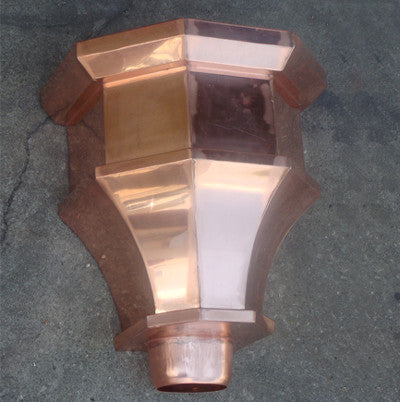 COPPER LEADER HEAD- MONTE CRISTO - Wholesale Gutter Systems
