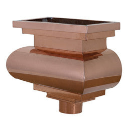 COPPER LEADER HEAD- REMBRANDT - Wholesale Gutter Systems