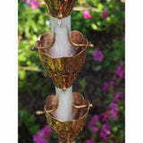 COPPER RAIN CHAIN- FLUTED CUP - Wholesale Gutter Systems  - 2
