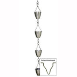 STAINLESS STEEL RAIN CHAIN- FLOWER CUP - Wholesale Gutter Systems  - 5