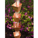 COPPER RAIN CHAIN- SQUARE CUP - Wholesale Gutter Systems  - 2