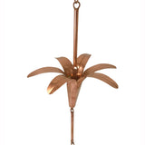 Lily Rain Chain- Copper - Wholesale Gutter Systems  - 1