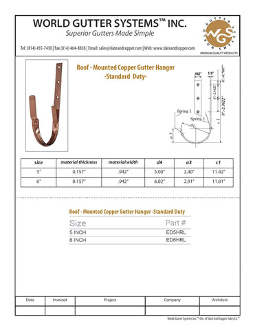Copper Roof Hanger, Roof Hanger, Copper Hangers, Half round gutter hanger, roof mounted hanger, copper roof mounted hanger