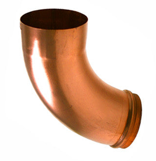 "COPPER ELBOW- 3"" & 4"" BEADED ROUND - Wholesale Gutter Systems"