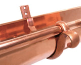 "COPPER COATED CAST BRASS DOUBLE CURL FASCIA HANGER- 6"" - Wholesale Gutter Systems  - 2"