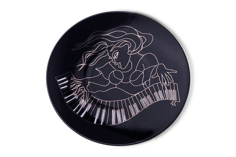 Piano Design - Show Plate/Charger Plate Black