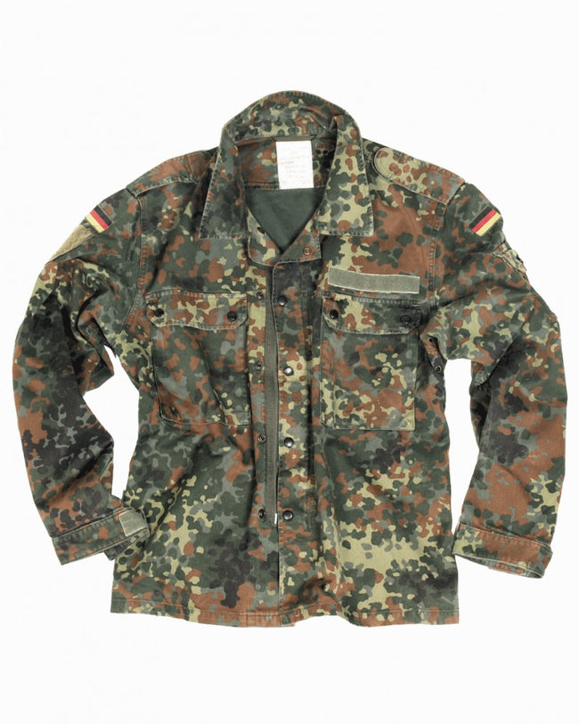 Genuine German army surplus flecktarn camo field jacket in a range of sizes
