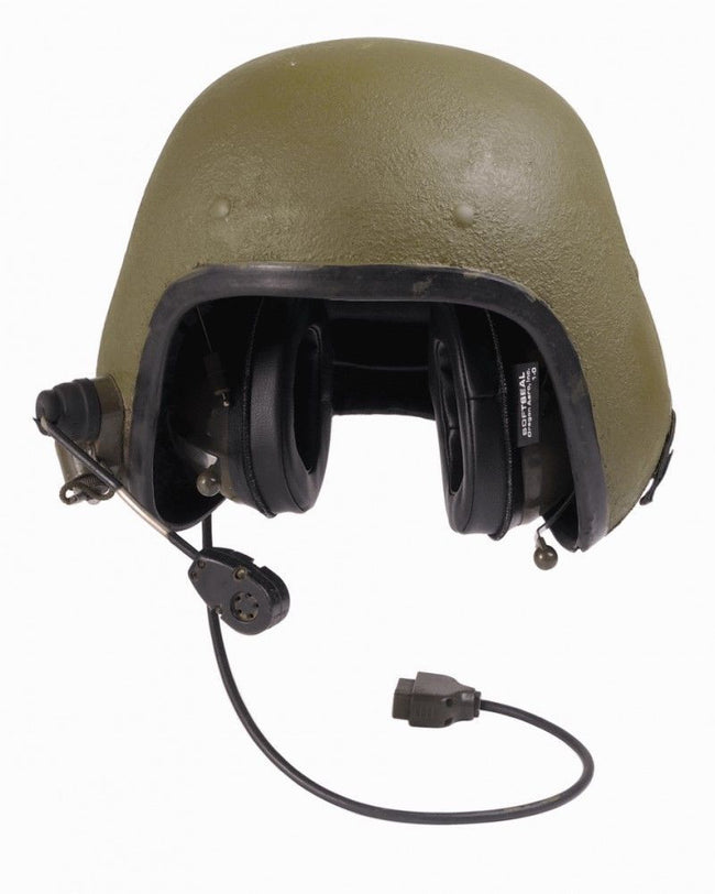 Danish army surplus tank crew tanker helmet with attachments