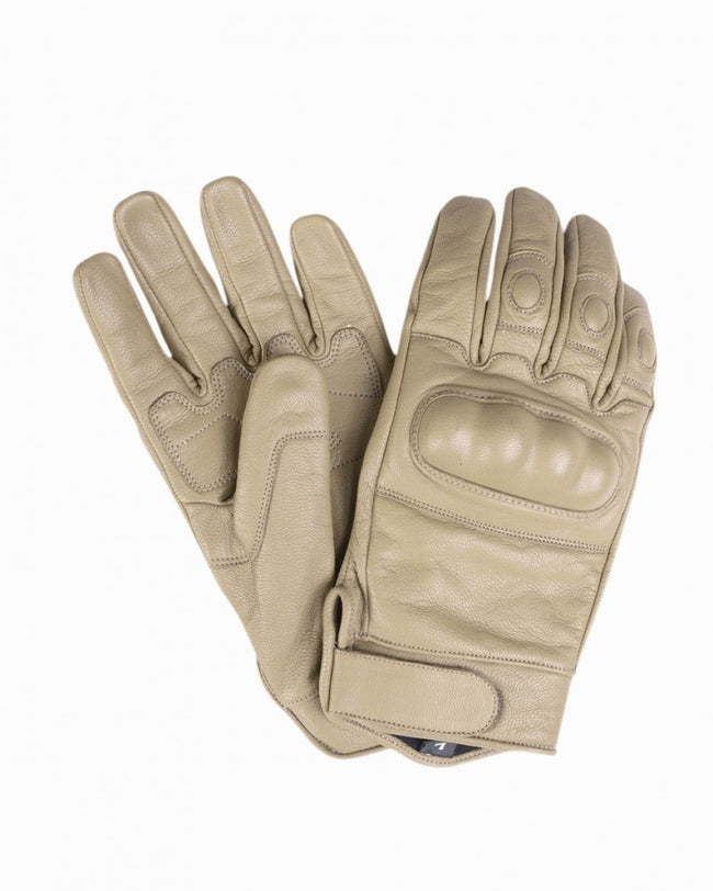 MILTEC Tactical all  leather gloves, COYOTE  combat police army security