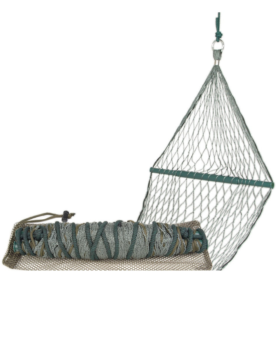 Garden camp hiking large hammock with wooden spreaders