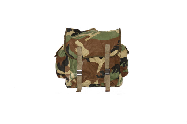 East European army surplus woodland camouflage backpack rucksack