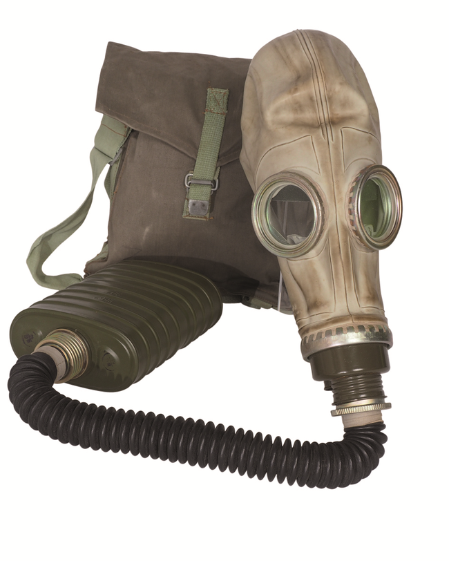 Polish military army surplus MP-3/OM14 gas mask, filter and bag