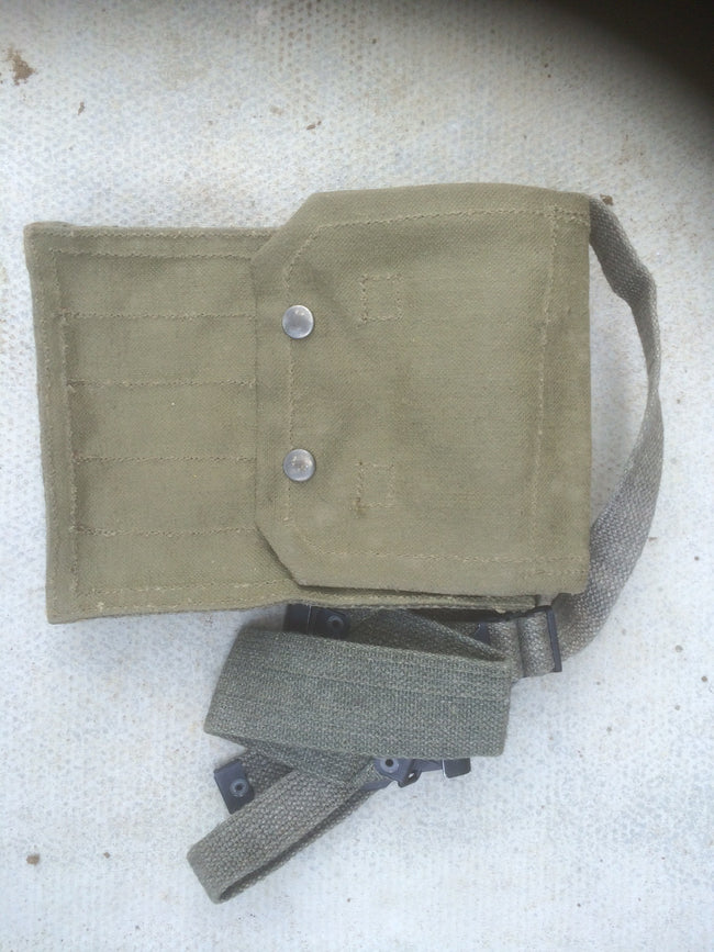 french canvas ammo pouch