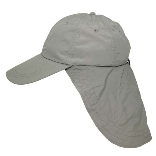 'sahara' peaked cap with neck curtain / protection,sun desert adjustable - Olive