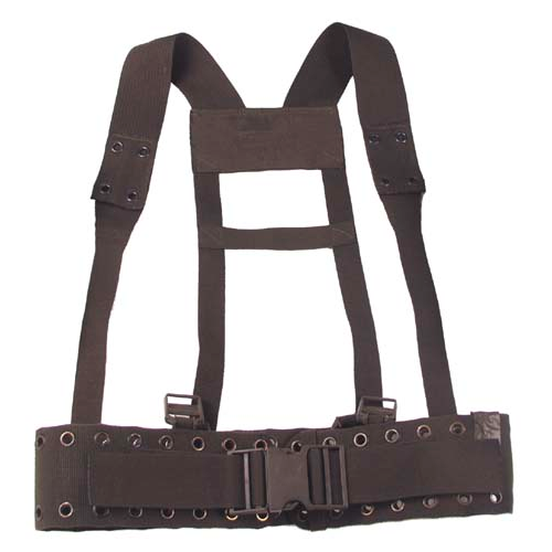 Military army surplus  equipment belt and shoulder harness
