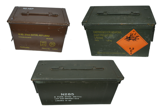 Ammunition ammo box 50 cal military surplus NATO storage tools