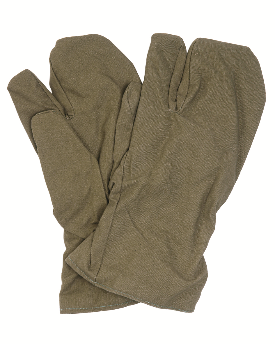 NEW/UNISSUED Czech military surplus winter mitts  gloves  mittens trigger finger