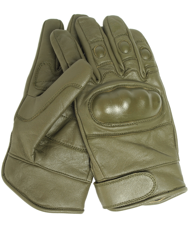 MILTEC Tactical all  leather gloves,Olive  combat police army security