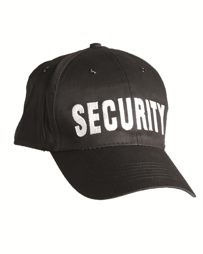 SECURITY baseball cap , perfect for those winter patrols