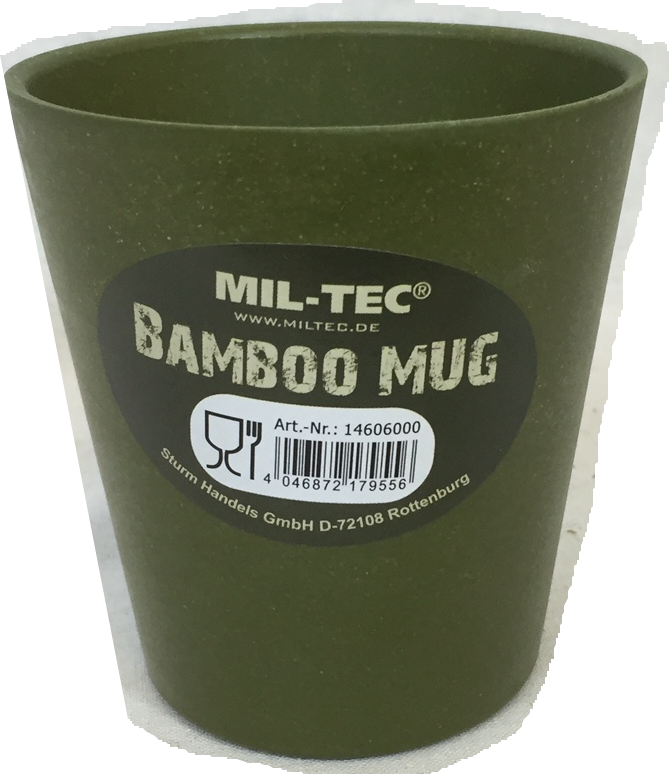 2 x bamboo mugs, camping hiking barbecue