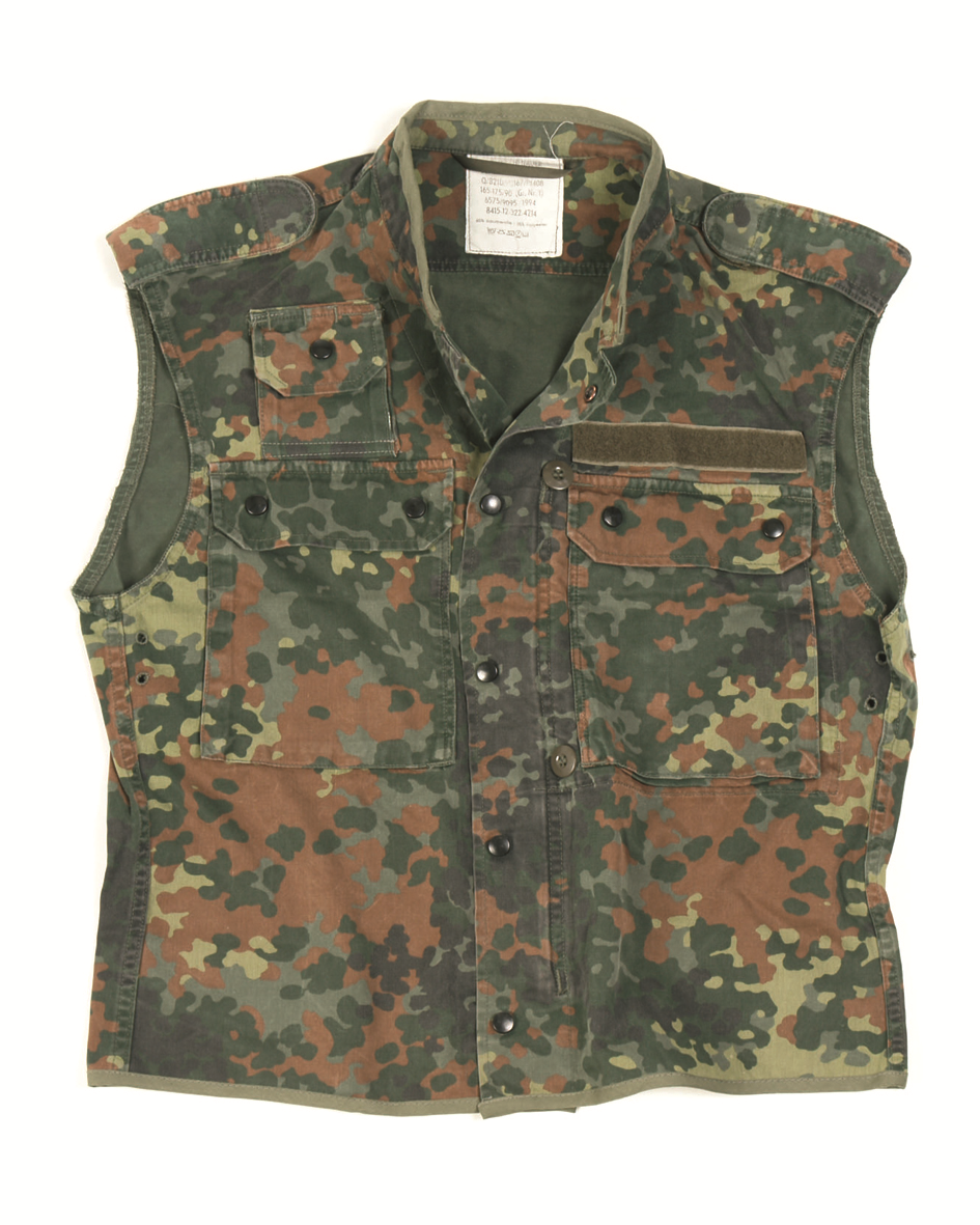 German army surplus flecktarn vest