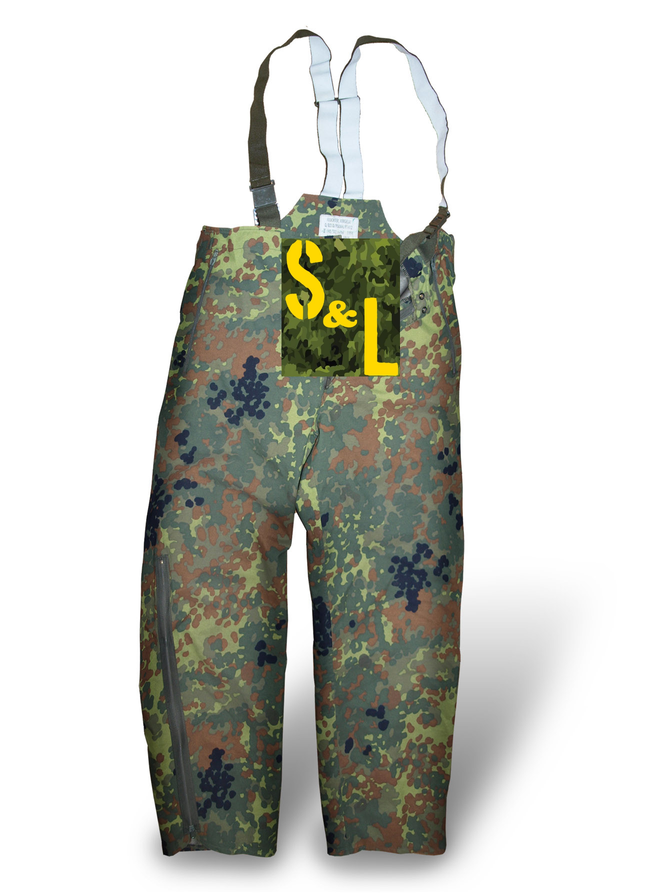 German army surplus flecktarn trousers waterproof