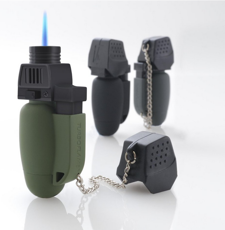 From HIGHLANDER of Scotland,SINGLE turboflame gas fuelled lighter, windproof