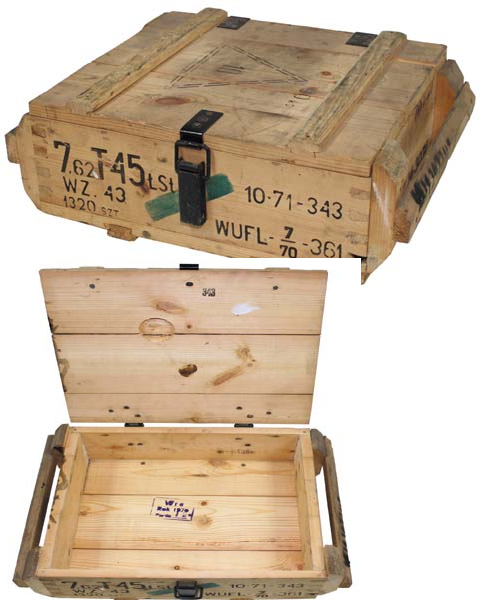 east european wooden ammo box