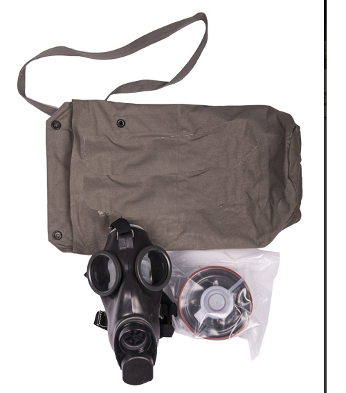 Swiss army surplus gas mask , filter and bag - UNISSUED