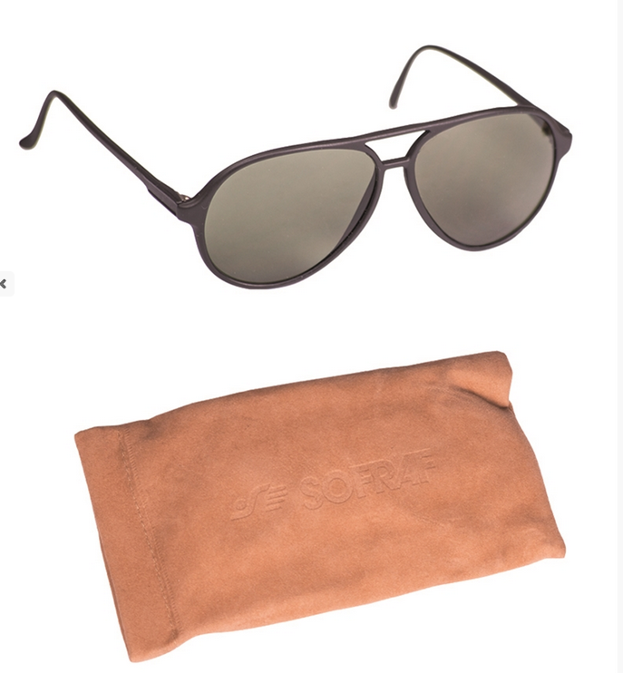 French army issue surplus sunglasses in case