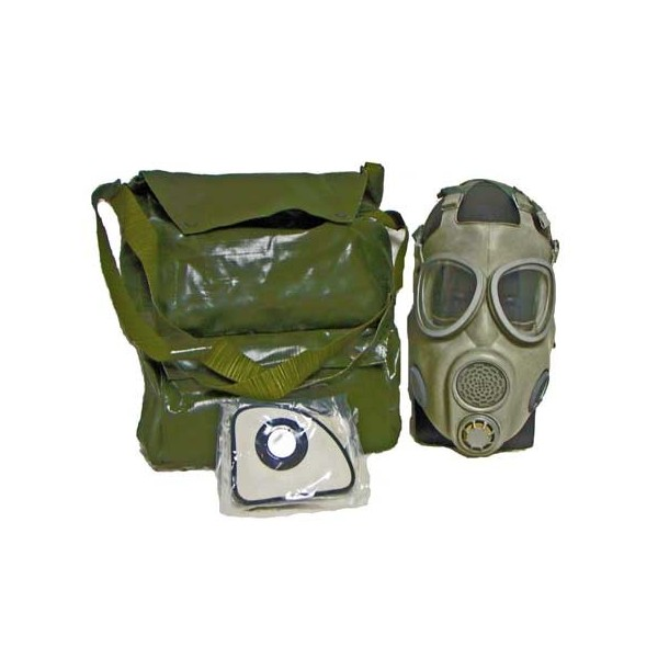 M10 gas mask in bag, sealed filters, extra lenses etc ( NO DRINKING STRAW)
