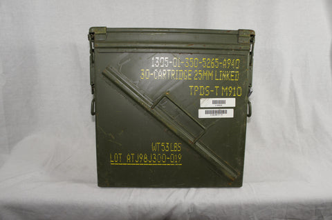 Danish army surplus wooden ammo crate box with lid 50 cal 7.62