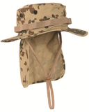 Army style boonie bush hat with neck curtain flap chin strap