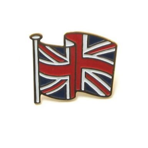 Union jack enamal pin badge butterfly clasp