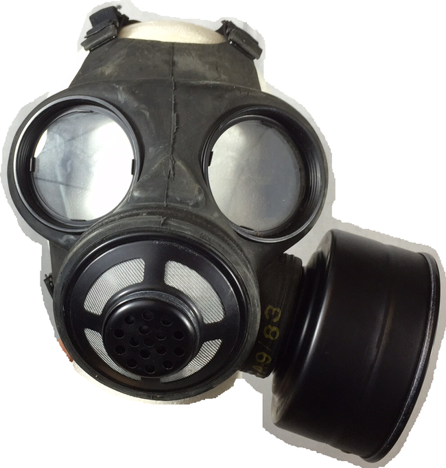 New Gas Mask / Respirator Vintage Canadian Army C3 With Filter Genuine Military